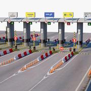 Highway Toll Gate 3d model