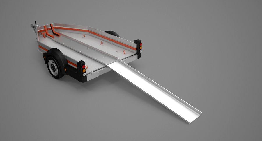 摩托车拖车 royalty-free 3d model - Preview no. 8