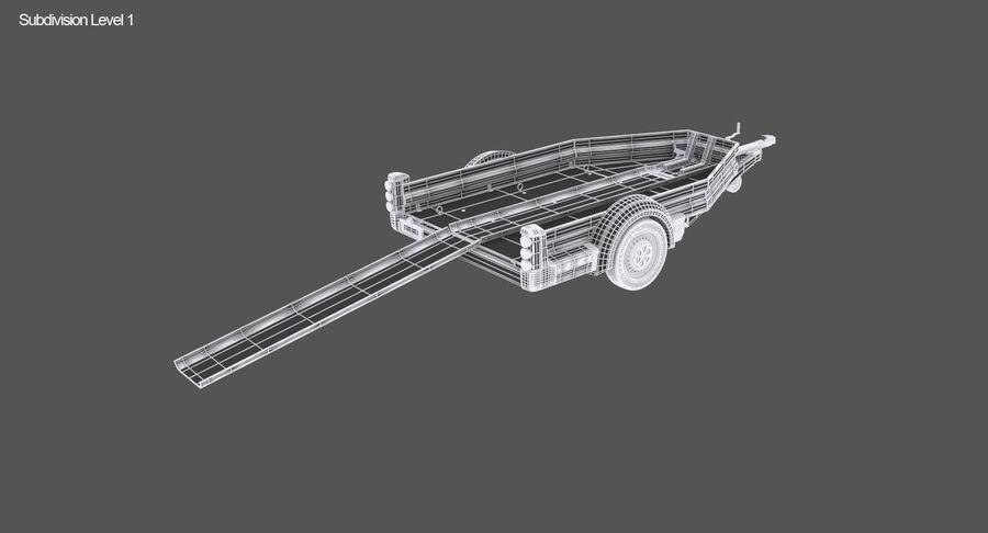 오토바이 운반 트레일러 royalty-free 3d model - Preview no. 14