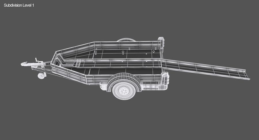 摩托车拖车 royalty-free 3d model - Preview no. 16