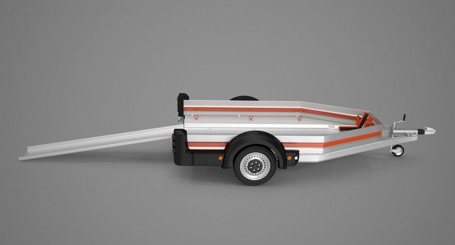 Remolque de transporte de motocicletas royalty-free modelo 3d - Preview no. 5