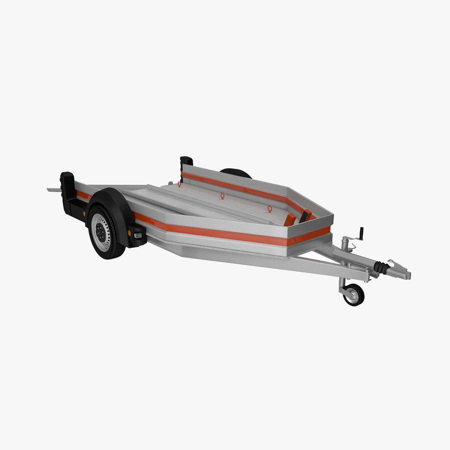 摩托车拖车 royalty-free 3d model - Preview no. 1