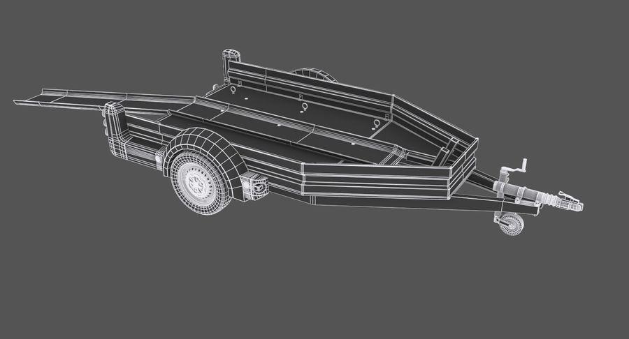 오토바이 운반 트레일러 royalty-free 3d model - Preview no. 11