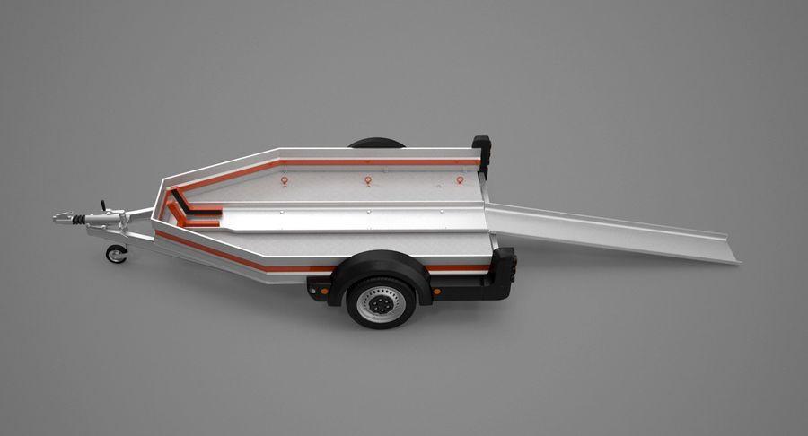 Remolque de transporte de motocicletas royalty-free modelo 3d - Preview no. 9