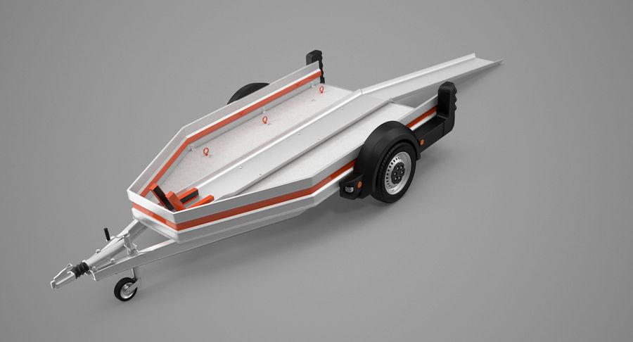 摩托车拖车 royalty-free 3d model - Preview no. 10