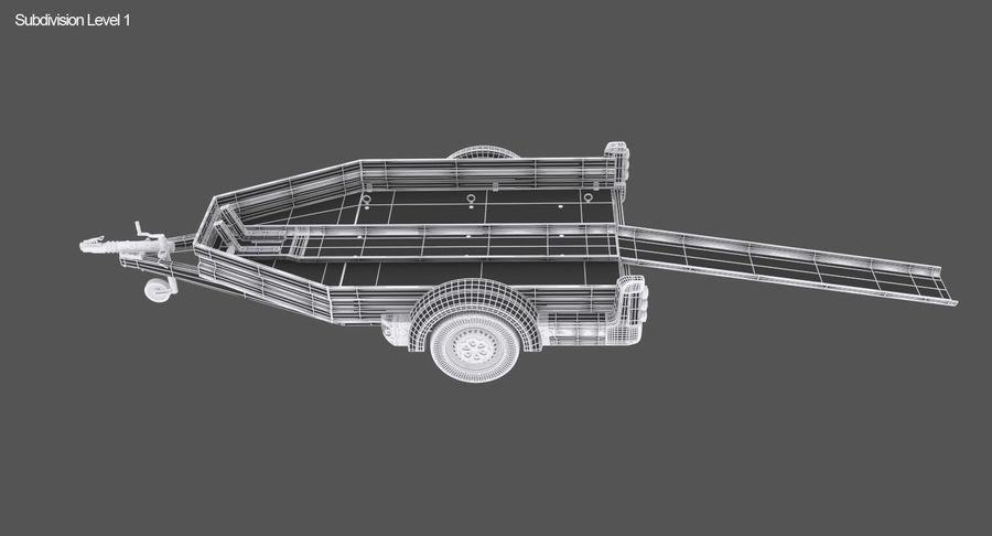 오토바이 운반 트레일러 royalty-free 3d model - Preview no. 16