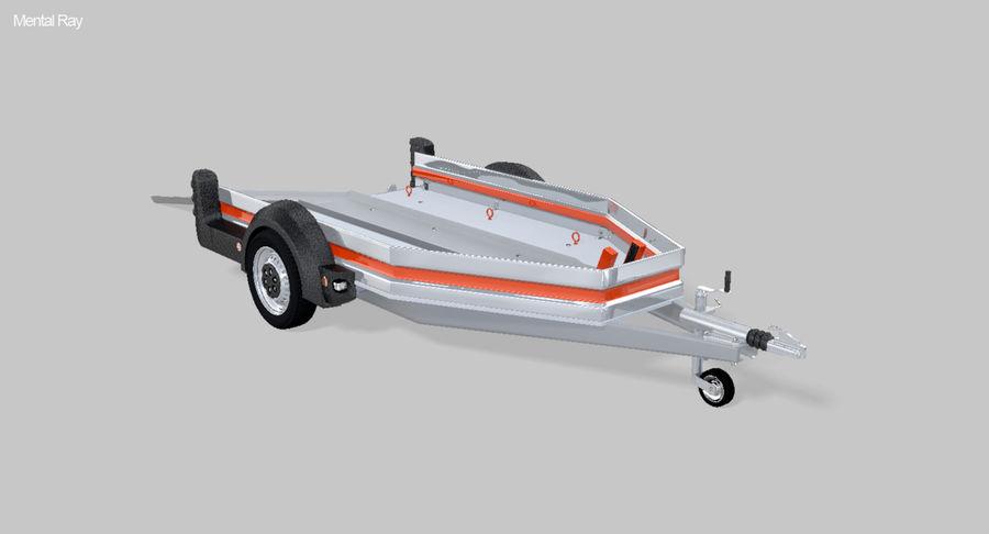 摩托车拖车 royalty-free 3d model - Preview no. 3