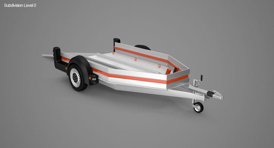 摩托车拖车 royalty-free 3d model - Preview no. 4