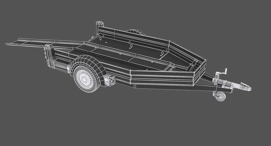 摩托车拖车 royalty-free 3d model - Preview no. 11