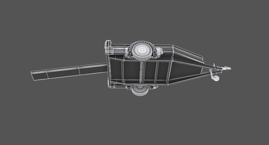 오토바이 운반 트레일러 royalty-free 3d model - Preview no. 12