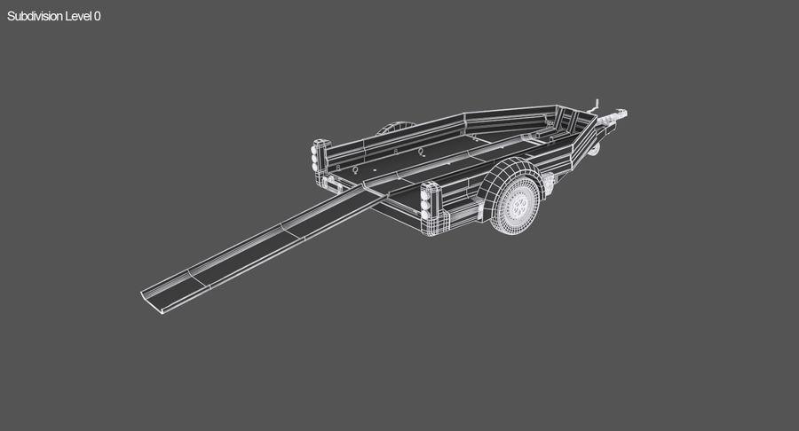 摩托车拖车 royalty-free 3d model - Preview no. 13