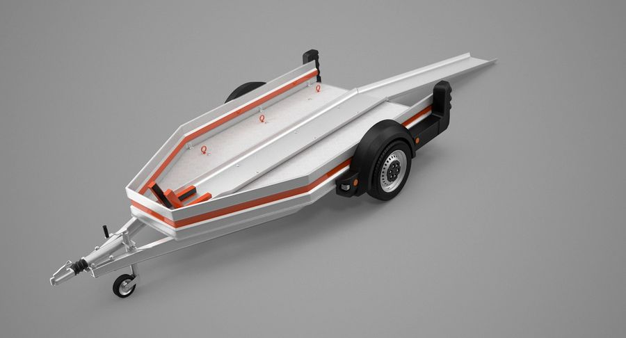 Remolque de transporte de motocicletas royalty-free modelo 3d - Preview no. 10