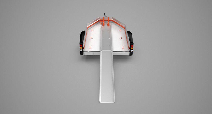 오토바이 운반 트레일러 royalty-free 3d model - Preview no. 7