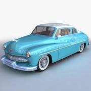 复古通用轿车低聚 3d model