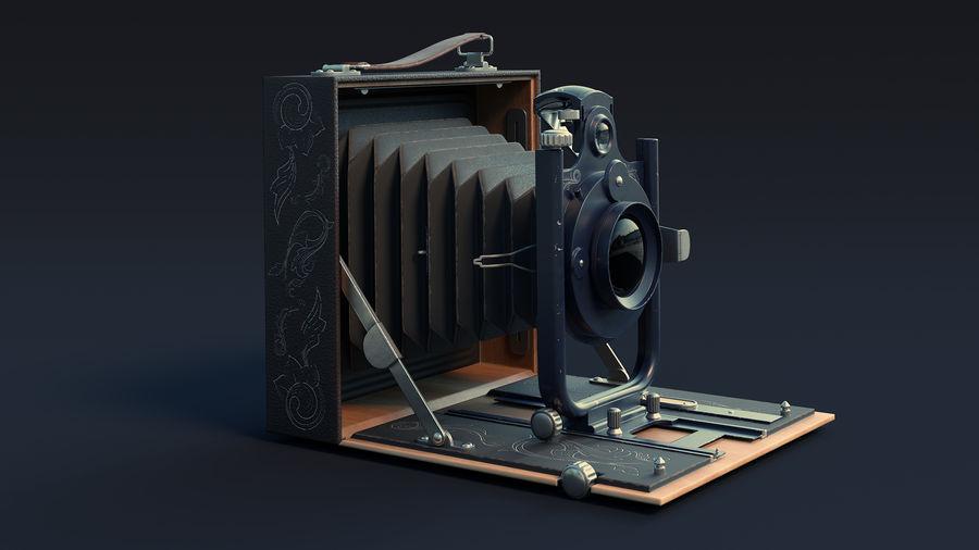 Vecchia macchina fotografica pieghevole royalty-free 3d model - Preview no. 2