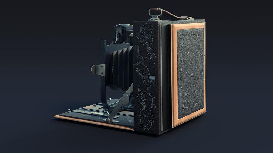 Vecchia macchina fotografica pieghevole royalty-free 3d model - Preview no. 5