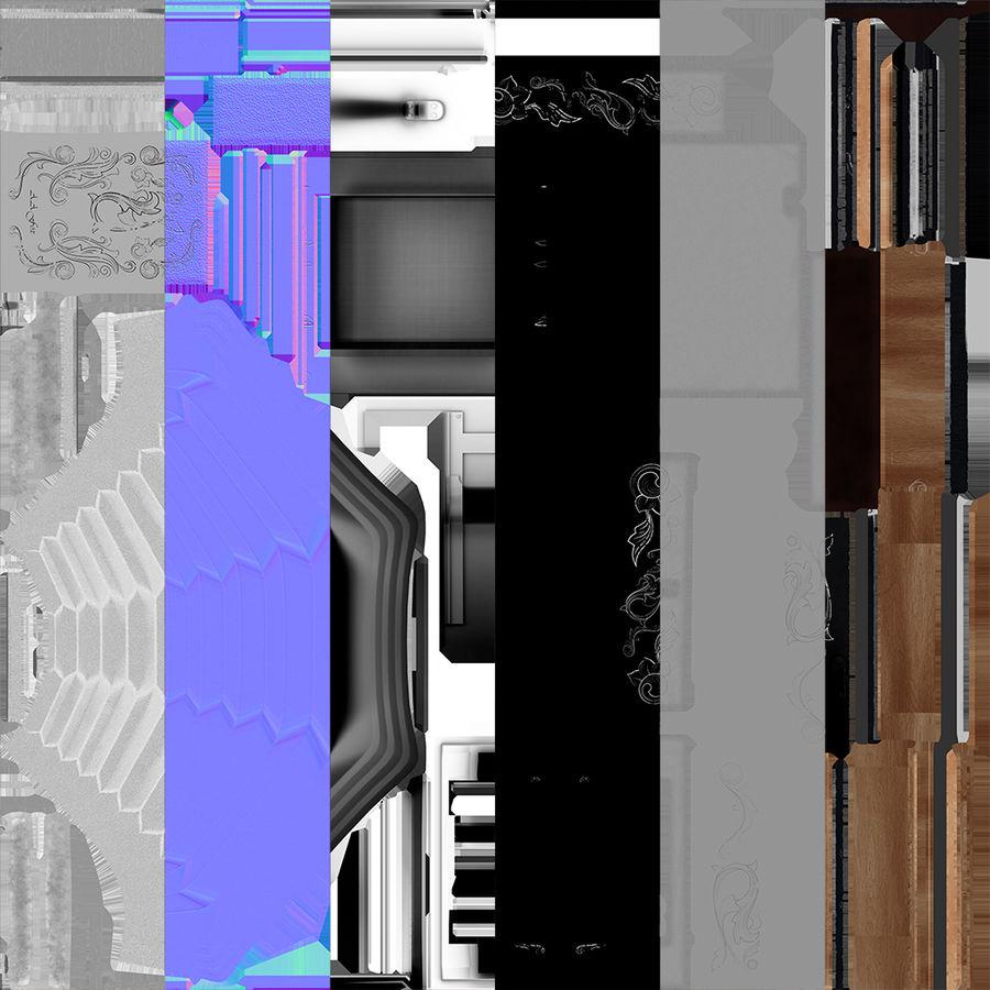 Vecchia macchina fotografica pieghevole royalty-free 3d model - Preview no. 11