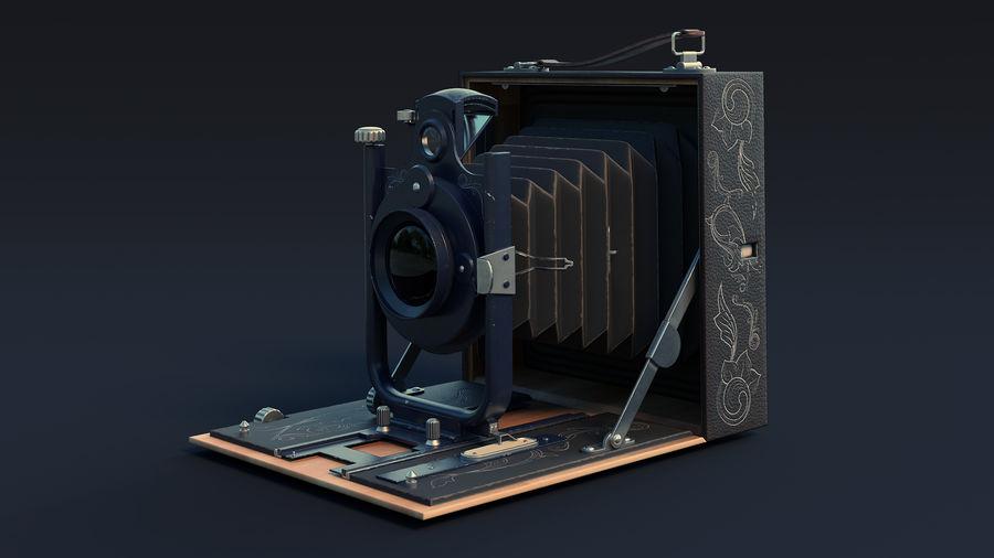Vecchia macchina fotografica pieghevole royalty-free 3d model - Preview no. 4