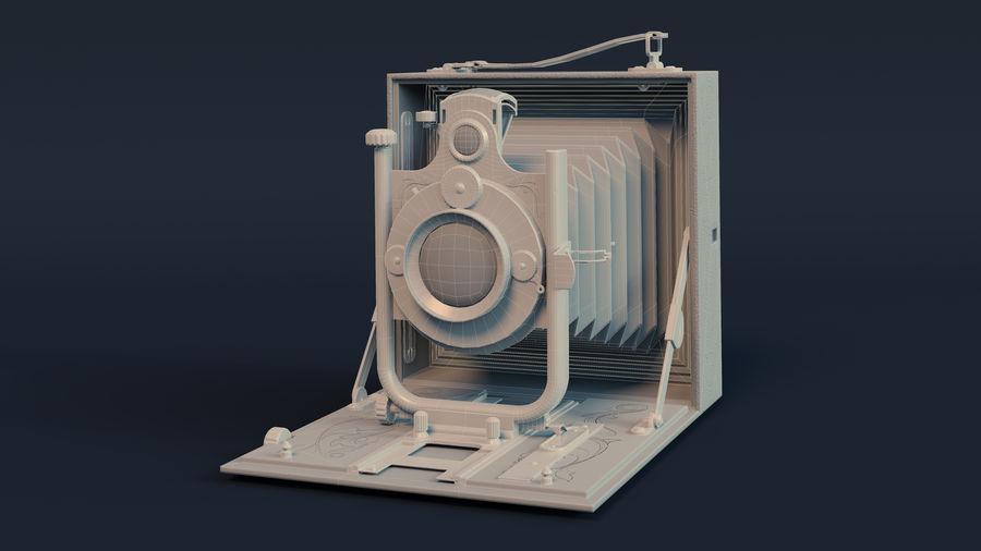 Vecchia macchina fotografica pieghevole royalty-free 3d model - Preview no. 6