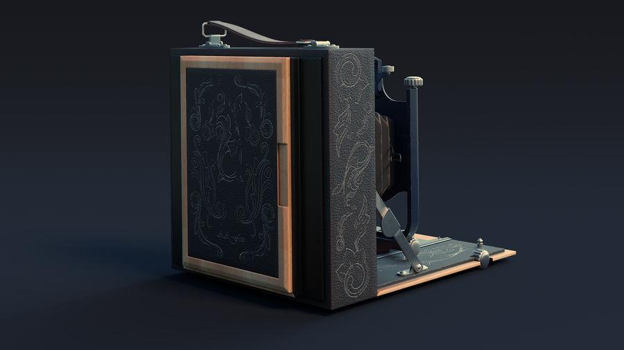 Vecchia macchina fotografica pieghevole royalty-free 3d model - Preview no. 3