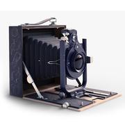 Vecchia macchina fotografica pieghevole 3d model