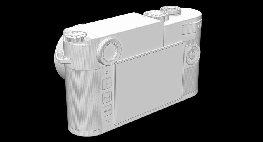 徕卡M10版Zagato royalty-free 3d model - Preview no. 12
