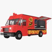 Burger Food Truck 3d model