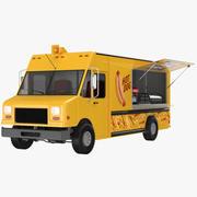 Caminhão de comida de cachorro-quente 3d model