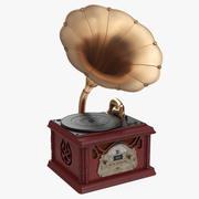 Gramofon w stylu retro vintage 3d model