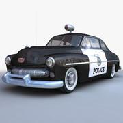 Retro Generic Police Car LOW POLY 3d model