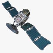 Satélite de ficção científica 3d model