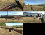 Collezione di pistole: 5 pistole PBR di alta qualità 3d model