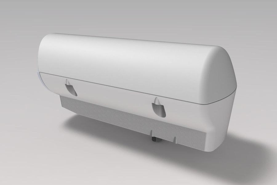 Transportation Security Camera Enclosure royalty-free 3d model - Preview no. 3