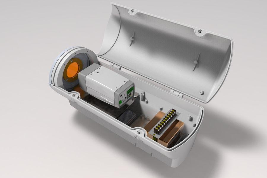 Transportation Security Camera Enclosure royalty-free 3d model - Preview no. 4