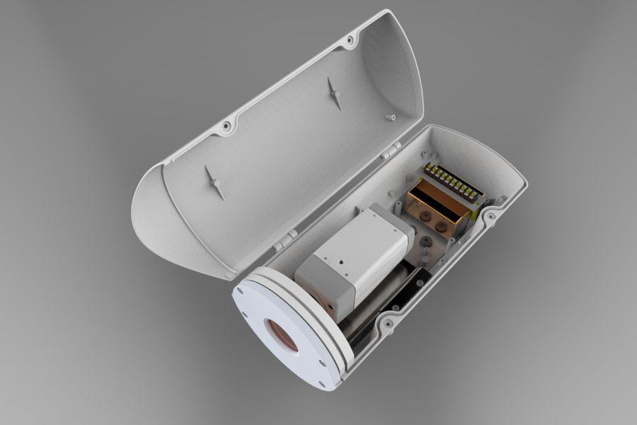 Transportation Security Camera Enclosure royalty-free 3d model - Preview no. 5