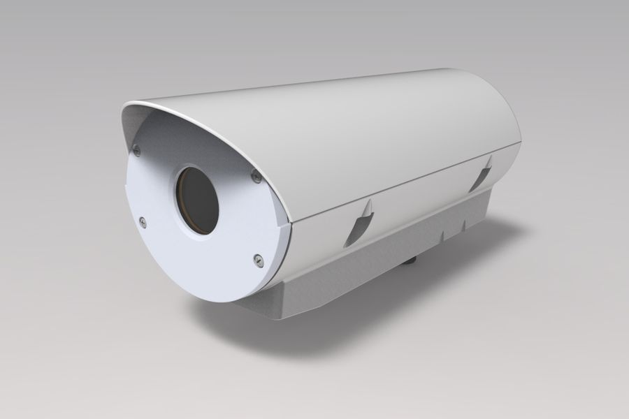 Transportation Security Camera Enclosure royalty-free 3d model - Preview no. 2