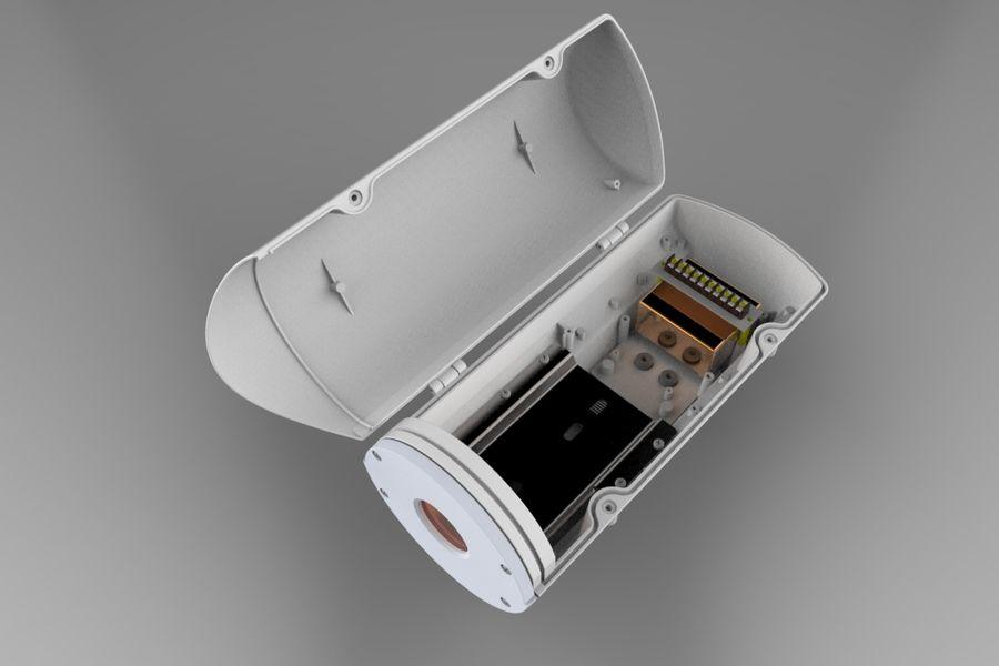 Transportation Security Camera Enclosure royalty-free 3d model - Preview no. 6