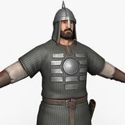 Middeleeuwse krijger 3d model