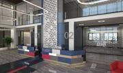 Moderne lobby 3d model