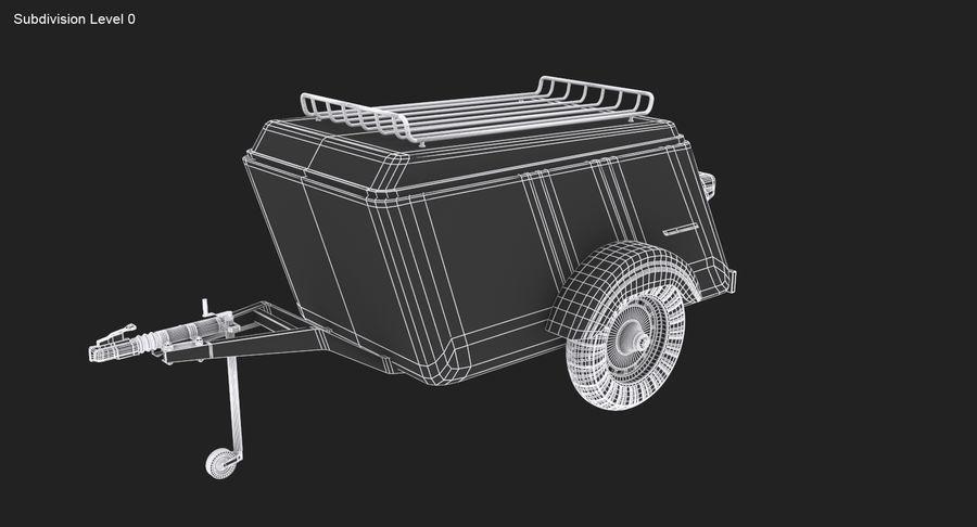 摩托车拖车 royalty-free 3d model - Preview no. 14