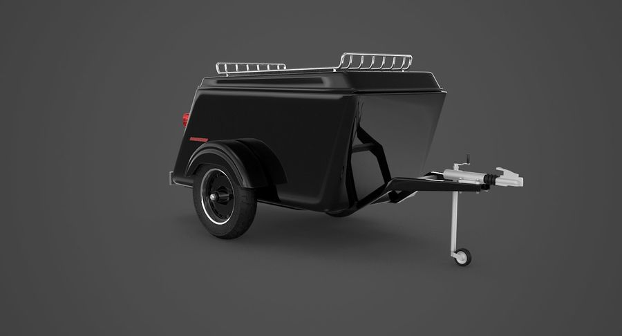 摩托车拖车 royalty-free 3d model - Preview no. 2
