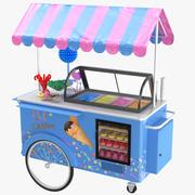 Carrinho de sorvete e doces 3d model