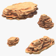 Ensemble de falaises rocheuses 3d model