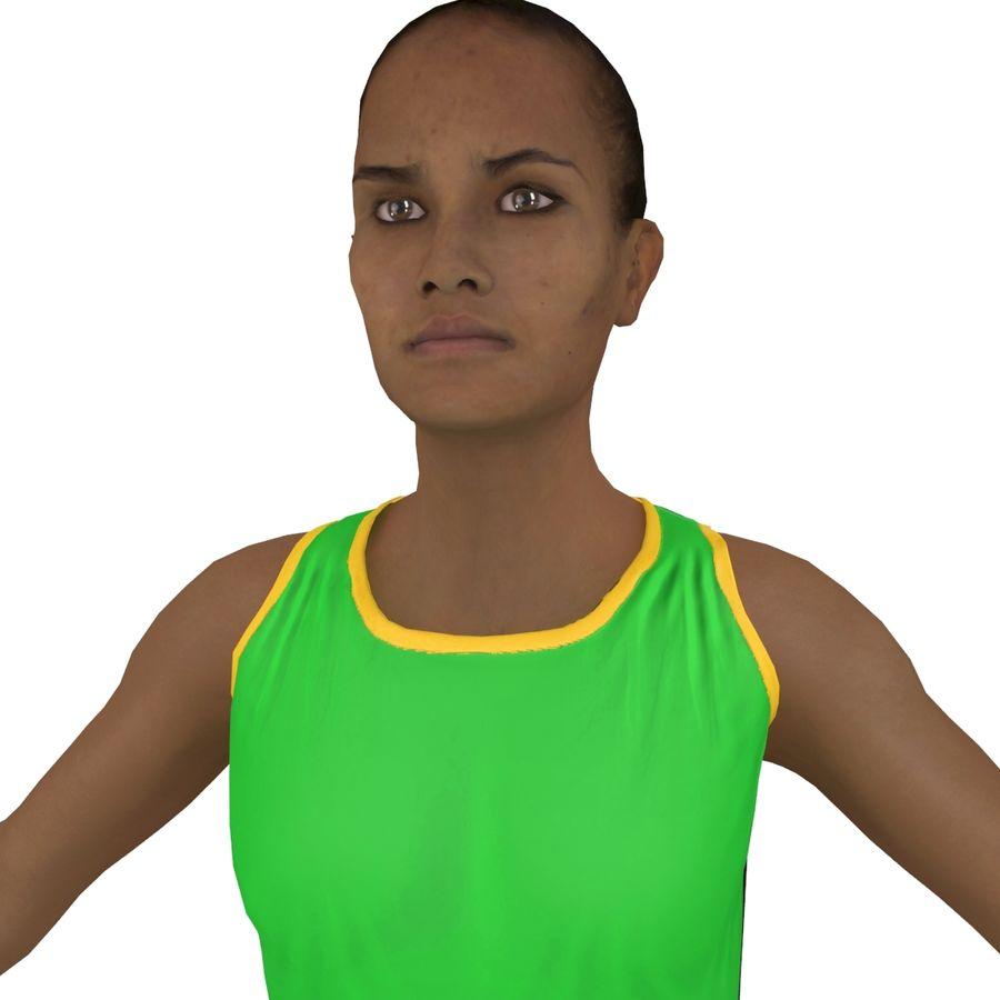 Athlète féminine 4 royalty-free 3d model - Preview no. 12