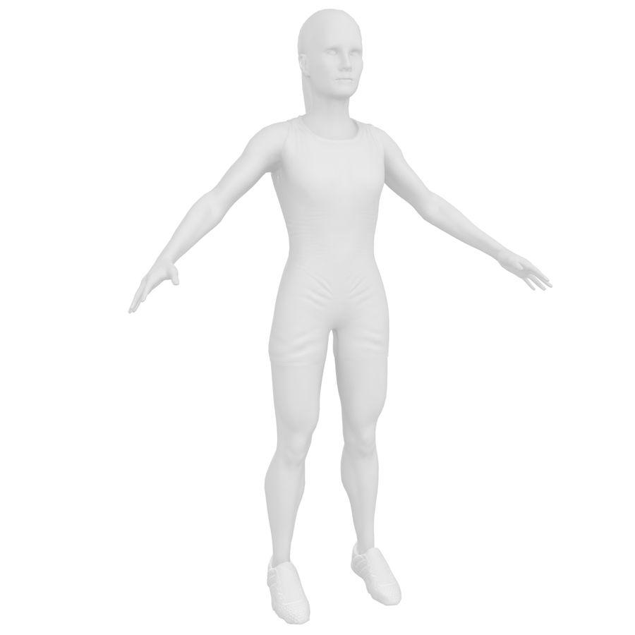 Athlète féminine 4 royalty-free 3d model - Preview no. 22