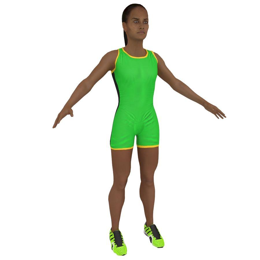 Athlète féminine 4 royalty-free 3d model - Preview no. 1