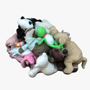 Pile Plush Animals 01 3d model
