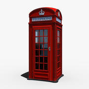 London Phone Box 3d model