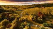 Autumn grassland 3d model