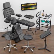 Tattoo furniture set 3d model